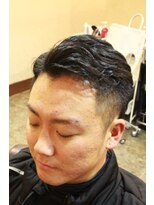 ディスパッチヘアー 甲子園店(DISPATCH HAIR)サイドパート+2ブロック+セミウェット