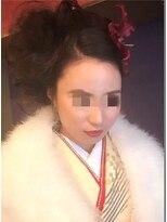 アビリティ ヘアー(ability hair)蒲田abilityhair 成人式・大人可愛いフラワースタイル