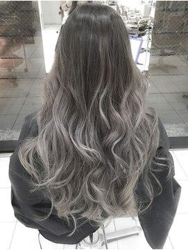 デイズ(days)アッシュグラデーションカラーブリーチネイビーカラー美髪