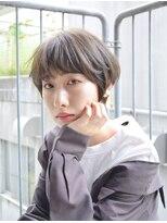 コクリ(kokuri)【梶谷担当】透明感グレージュ×マッシュショートが、可愛い♪