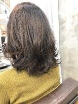 エトネ ヘアーサロン 仙台駅前(eTONe hair salon)20代30代40代ミディアムふんわりレイヤー