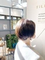 ティルヘアー(TiLL HAIR)ちょこっとボブ 伸ばしかけヘア 丸みヘア