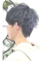 ヘアーサロン エール 原宿(hair salon ailes)(ailes 原宿)style374 デザインカラー☆ダークブルーグレー