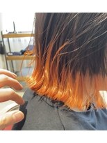 パツッとbob/裾カラー/オレンジ