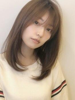 アグ ヘアー シルエ 和泉府中店(Agu hair silje)の写真/【低温縮毛矯正+カット¥7900】想像以上に柔らかな曲線美に。クセを伸ばす×360度綺麗なシルエットを両立!