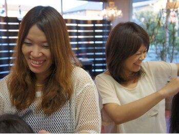 ヘアーメイク メイ(Hair Make May)の写真/女性スタイリストならではの提案や細やかなサービスが人気♪女性にしか分らない微妙なニュアンスを再現!