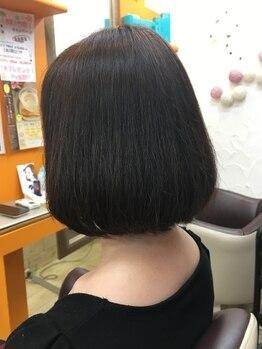 クラブヘアー パッション(CLUB HAIR PASSION)の写真/時間のない女性にオススメのカット◎仕上がりが早いのはもちろん、骨格やクセに合わせたカットが人気★