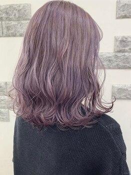 デザイアー 下高井戸店(desire)の写真/周りと差をつける個性的なカラーもお任せください☆人気のWフェイスカラー・イルミナカラーで理想の髪色に!