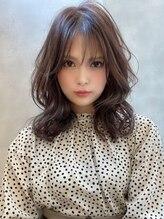 アグ ヘアー オニキス いわき泉町店(Agu hair onyx)《Agu hair》ショコラカラーの艶モテ×ヨシンモリ