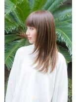 エリア(area)【area本店 西大島】ベージュカラー 厚めバング セミディ☆