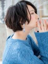 ★横顔美人…黒髪前下がりボブ★3