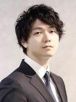 コンフィデンス メンズヘアー(confidence MEN'S HAIR)スーツ×スパイラルパーマ モテ髪男子 confidence -MEN'S HAIR-