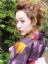 ヘアー ミッション ギオン(hair Mission Gion)ゆるふわアップ