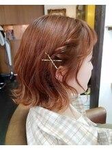 プリーム ヘアー(Pleame hair)オレンジカラー