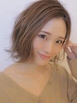 アグ ヘアー リノ 大名店(Agu hair reno)《Agu hair》ラフニュアンスなミニボブ