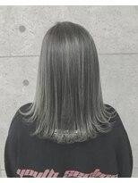 アールプラスヘアサロン(ar+ hair salon)グレー3Dデザインカラーボブディ