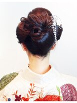 成人式の洋風日本髪画像