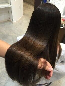 マナヘアー(Mana Hair)の写真/CMモデル級の輝き★高品質な素材を使ったこだわりの縮毛矯正でツヤツヤ&しっとり間違いなしです!!