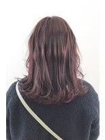ヘアーアイスカルテット(HAIR ICI QUARTET)ピンク グレージュ 波巻き