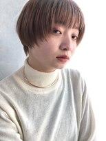 ファースト 仙台店(first)【松根ショートボブ】マッシュショート×イルミナベージュ