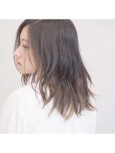 リフヘアー(Riff hair)自然乾燥のナチュラルミディ