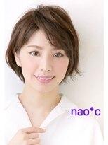 【富雄nao*c】ベージュカラー☆大人かわいい丸みショートヘア