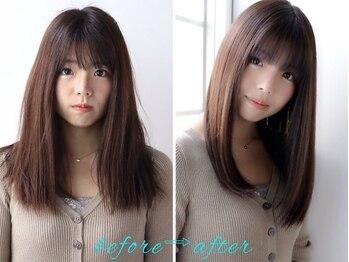 髪質改善と縮毛矯正の専門店 サンティエ(scintiller)の写真/諦めかけた髪をscintillerに任せてみませんか?独自開発こだわりの髪質改善トリートメントで内側から潤う!