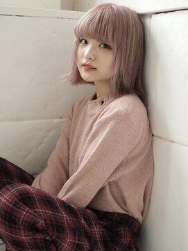 ネフ(NeF)ホワイトピンクの外ハネボブ☆