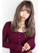 ヘアサロン ガリカ 表参道(hair salon Gallica)☆『 ミルクティーグレージュ & 毛束感 』無造作☆セミウェット