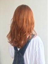 ヘアメイク オブジェ(hair make objet)ハイトーンオレンジカラー KAI