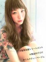 ミディアムレイヤー×短め前髪×無造作カールで小顔効果◎