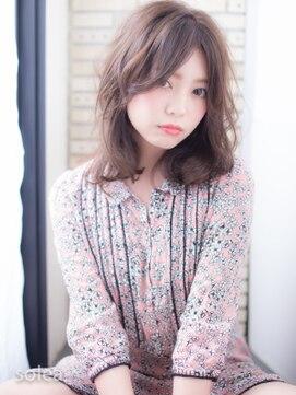 ソレア(solea)ピンクアッシュ×ふんわりセンターパート solea yuuki