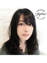 ジュピター 春日店(hair studio jupiter)黒髪ふんわりパーマ