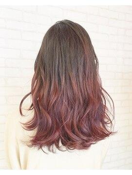 ビス ヘア アンド ビューティー 西新井店(Vis Hair&Beauty)ピンク/グラデーション/バレイヤージュ/ミルクティーベージュ