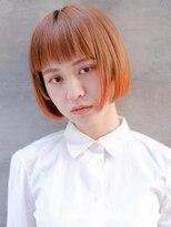 ギンザ ピークアブー 並木通り(GINZA PEEK A BOO)【デザインカラー】オレンジミニボブヘア