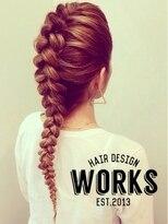 ワークス ヘアデザイン(WORKS HAIR DESIGN)外国人風編み込みクールヘアーアレンジ