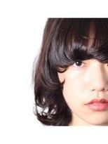 サロン ヴィ(Salon V)SalonV 黒髪マッシュウルフ バングアップ