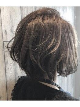 グットゥ ヘアアンドスペース(goutte hair&space)の写真/≪話題のイルミナカラークーポン有≫外国人風スタイルなど、トレンドカラーで褒められスタイルに♪