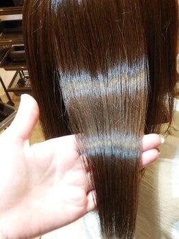 ヘアーメイク プラム(Hairmake PLUM)の写真/【森小路】1人1人の髪質に合わせた薬剤選んでくれる◎今までのストレートとは一味違う♪