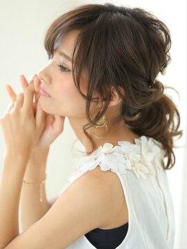 ガレットウメダ(GALETTE UMEDA)透け感柔らか☆ダークモカ☆エフォートレスポニーテール