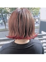 ガーデンヘアー(Garden hair)[松岡]裾カラーに切りっぱなしボブ