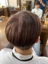 アールピクシー(Hair Work's r.Pixy)マッシュ × オレンジベージュカラー