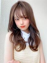 前髪/ラベンダーカラー/イメチェン/春カラー/くすみカラー