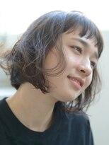 バタフライ(butterfly)【butterfly郡司泰之】 短め前髪のショートボブパーマ