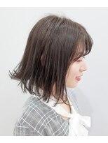 エイム ヘアメイク 横川店(eim HAIR MAKE)切りっぱなしボブ × ヌーディーベージュ