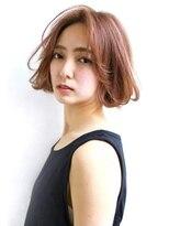 縮毛矯正×ピンクベージュ×大人カジュアルボブ 【Laetus】