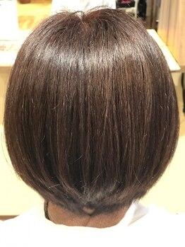 ヘアー アステリア(HAIR ASTRIA)の写真/【92%天然由来!!】刺激が少なく、頭皮や髪に優しいツヤツヤオーガニックカラー♪