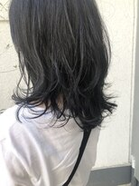 ダスクヘアー 中目黒(dusk HAIR)コテ巻き風パーマ鎖骨ミディ