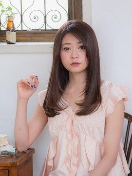 オーブ ヘアー ルル 京都四条通り店(AUBE HAIR lulu)上品な艶やかロングストレート
