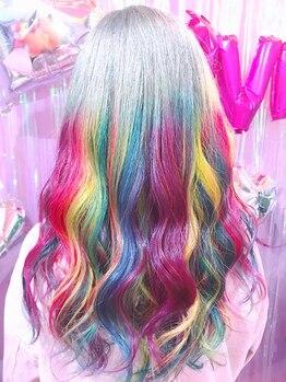 """ヘアサロン トミー(Hair salon TOMMY)の写真/TOMMYだからこそできるデザイン性の高いカラー!丁寧なカウンセリングで""""あなただけのもの""""に!!"""